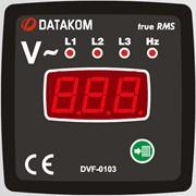 DATAKOM DVF-0103 Вольтметр-частотомер, 3 фазы, 72x72mm фото