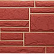 Фасадные панели T-Сайдинг, коллекция «Дикий камень» бордовый, 1090х455 фото