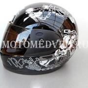 Шлем Safebet, черный закрытый, тонированное стекло, размер S 55-56, Китай фото