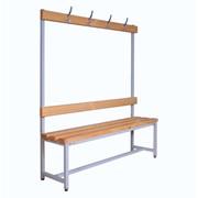 Скамейка с вешалками для раздевалок - 1000 (1500, 2000)