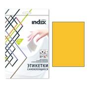 Самоклеящиеся этикетки ф.A4, 210x297; 1 этик. на л., 25 л, желтый,(INDEX) фото