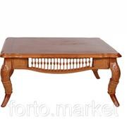 Стол из ротанга МиК Журнальный столик 6022 n002166, цвет Медовый дуб, длина 95 см., ширина 95 см., MK 3409 фото