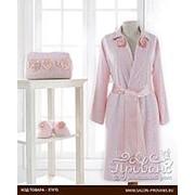 Халат женский с тапочками Soft Cotton ROSE хлопковая махра розовый L фото