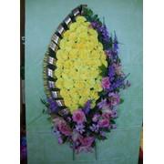 Ритуальная флористика (венки корзины) фото