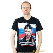 Футболка Путин в пилотке черная фото