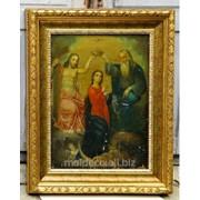 Икона в деревянной рамке из итальянского багета фото