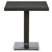 Плетеный стол T605SWT-W53-70x70 Brown фото