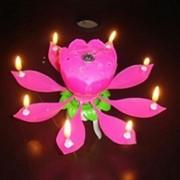 Музыкальная свеча Лотос фото