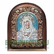 Дивеевские золотошвейные мастерские Умиление Богородица, дивеевская икона из бисера и парчи Высота иконы 17 см фото