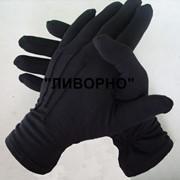 Перчатки парадные хб черные фото