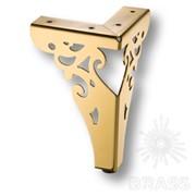 Опора мебельная резная, цвет - глянцевое золото KAX-4626-0150-A09 фото