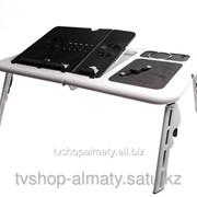 Столик для ноутбука складной с вентиляторами e-table ld09 фото