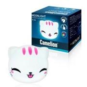 Camelion NL-304 ночник св/д Киса (3xR03 не в компл) 105x120, силикон, 2 реж RGB, вкл. нажатием фото
