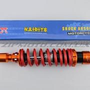 Амортизатор GY6, DIO ZX, LEAD 320mm, тюнинговый NDT оранжево-красный фото
