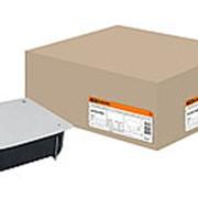 Распаячная коробка СП 115х115х45мм, крышка, метал. лапки, IP20, TDM фото