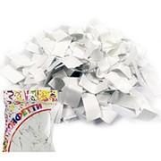 Конфетти бумажное Прямоугольники белые 2*5см 100гр фото