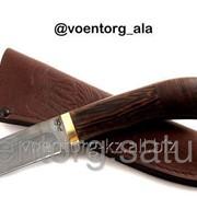 Нож Крот. Дамасская сталь фото