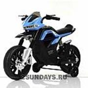 Детский мотоцикл на аккумуляторе MOTO JT5158 синий фото