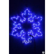 Снежинка мерцающая белый синий 80х80 см фото