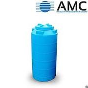 Бак пластиковый 500 литров вертикальный цилиндрический с крышкой фото
