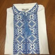 Классическая вышитая рубашка с коротким рукавом для мужчин (Б-51) фото
