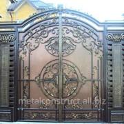 Ворота распашные металлические №29 фото