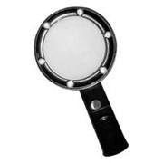 ИА Лупа ручная круглая с подсветкой, 5х, 75 мм арт. ИА22771 фото