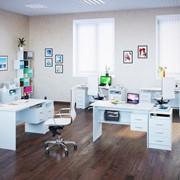 Комплект офисной мебели Сокол П К3 Белый фото