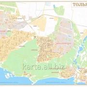 Настенная карта Тольятти 130х175 см фото