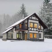 Быстровозводимые каркасные дома из утепленных панелей или СИП панелей фото