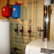 Отопление дома, коттеджа под ключ. фото