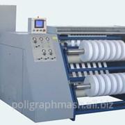 Бобинорезальная машина 3ПР-1300 для продольной резки рулонов полимерной пленки, бумаги, ламинированных изделий, алюминиевой фольги с последующей намоткой в рулоны (бобины). фото