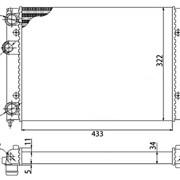 Радиатор охлаждения VW Golf III / Vento 1,4-1,6 - D7W022TT (NRF 58819 / NIS 651851) фото