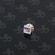 Значок МКС Латунь, никель, травление фото