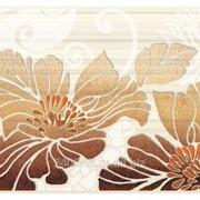 Декор керамический Нефрит-Керамика Кензо коричневый 09-03-15-075-1 фото