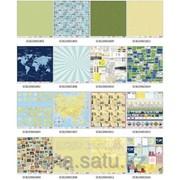 Набор бумаги 30,5х30,5 см 180 гр/м Вокруг Света 16 листов по 1 листу каждого дизайна фото