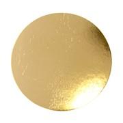 Подложка ДИСК картон.кругл.золото 28 см. (1 шт.) фото