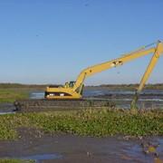 Очистка водоемов Киев, удаление ила, чистка озер, прудов, рек, каналов, доков, причалов фото