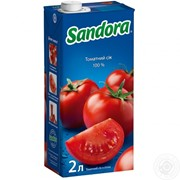 Sandora сік 2л томатний з сіллю фото