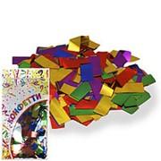 Конфетти фольгированное Прямоугольники ассорти 2*5см 300гр фото