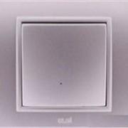 Выключатель звонка ZENA модуль серебристый 609-011000-207 фото