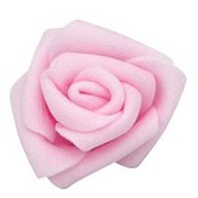 Декор свадебный Роза нежно-розовая 6см фото