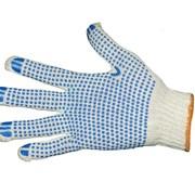 Перчатки трикотажные х/б с ПВХ напылением (4 нити) фото