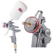 HVLP II Профессиональный краскораспылитель 1,4 мм, верхний пластиковый бачок 600 мл INTERTOOL PT-0100 фото