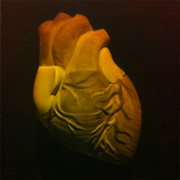 Сувенир голографический с подсветкой настольный Сердце фото