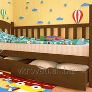 Кровать детская Флави 70*140 (Натуральное дерево) фото