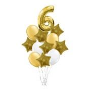 """Композиция из воздушных шаров """"Золотая дата"""" код ф006 фото"""