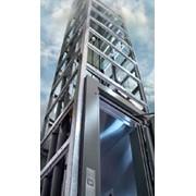 Лифт с самонесущей шахтой фото