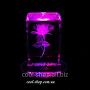 Светильник-ночник Роза в стекле фото