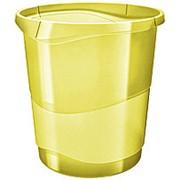 Корзина для мусора Esselte Colour Ice, 14 л, желтый фото